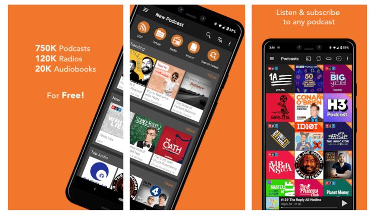Androidポッドキャスト定番アプリPodcast Addict
