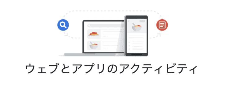 Googleアカウント ウェブとアプリのアクティビティ