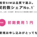 【初期費用1円&100円スマホ】IIJmio スマホセットセール