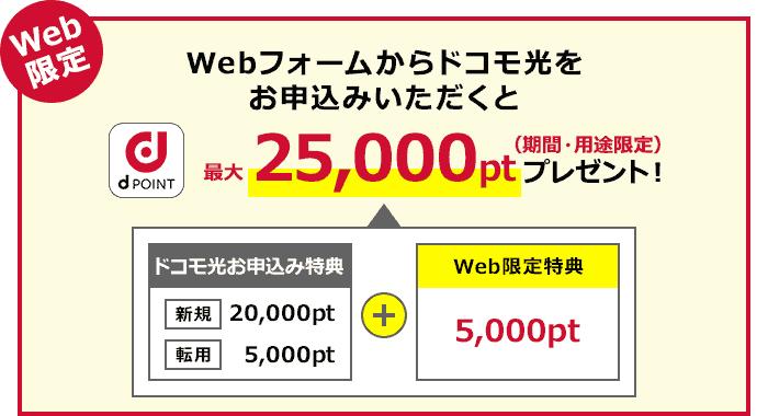 ドコモ光 20000dポイント