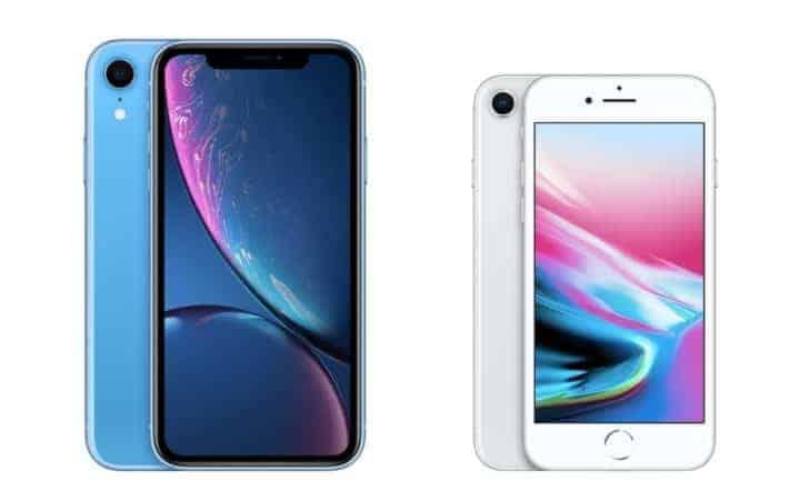 iPhone 8 一括0円+キャッシュバック、iPhone XR 一括9000円 iphonexr-iphone8