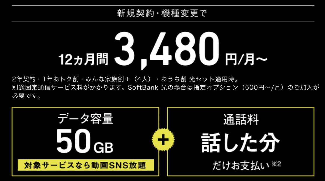 ソフトバンクのスマホ・iPhone料金プラン ウルトラギガモンスター+