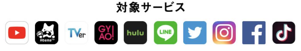 ソフトバンクのスマホ・iPhone料金プラン ウルトラギガモンスター+の対象サービス